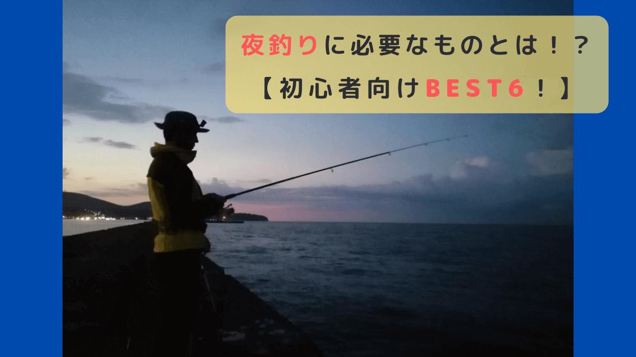 夜釣りに必要なもの6選